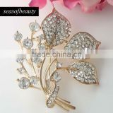 Wholesale New Gold Tone Pin Brooch Bouquet