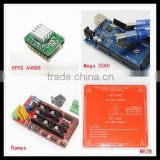Popular 1pcs Mega 2560 R3 + 1pcs RAMPS 1.4 Controller+ 5pcs A4988 Stepper Driver Module+1pcs PCB Heatbed MK2B 3D Printer kit