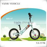 2016 alu V brake balance bikes for baby / iron frame cheap baby walking bicycle / blue color baby bike without pedals