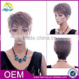 High density cheap synthetic women short bobo wig brown china wig supplier