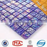 2L square waves hot sale mosaic tile iridescent glass mosaic cheap vitrified tiles price in india pool tiles mosaic decoration