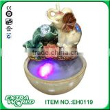 Factory direct ceramic ornaments creative feng shui aquarium water humidifier lotus pond elephant fountain