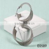 Special shape classical style high imitation silver stainless steel hoop earrings for women