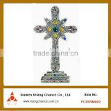 decorative metal cross with colorful Acrylic beads arts crafts