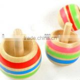 2013 hot sale educational wooden toy for kids, funny spinning top, gyro,3pcs