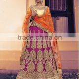 Shrewd Dark Magenta Satin Lehenga Choli/fancy lehenga choli/Lehenga Choli Wholesaler In India