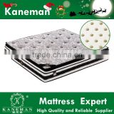 Natural latex bed room furnitures double pillow top pocket spring mattress