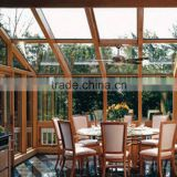 Trade assurance protection factory supplied aluminum frame glass sun room for house,beautiful outdoor glass house