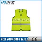 Stronger durable high visibility en471 red traffic safety vest