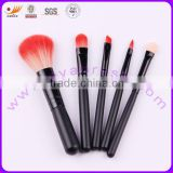 Mini Makup Brush Set with Aluminum Ferrule and Wooden Handle, Various Colors and Hairs are Available
