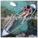 2 person Polycarbonate glass bottom fishing rowing kayak for sale