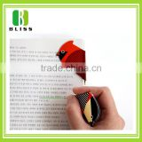 Creative new custom style Promotion Paper Bookmark Ball Pen bookmark pen Cartoon diecut printing bookmark pen