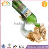 Factory Custom made best home decoration gift polyresin resin naked woman wine bottle holder