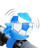 3 Colors Football Bike Bell Bicycle Horn Loud Road MTB Bike Horn Soccer Bicycle Bell Handles Ring Flexible Crisp Sound Handlebar