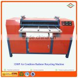 South American Market 99% recycling rate air conditioner/refrigerator radiator/car radiator cutting recycling machine