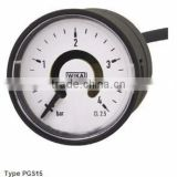 Bourdon Tube Pressure Gauges with Electronic Pressure Switch Standard Version, Cable Outlet Type PGS15