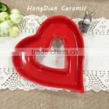 ceramic porcelain,Ceramic Material and Porcelain Ceramic Type heart shape dinner plates for weddings