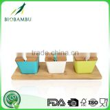 Eco-friendly bamboo spice box, storage bottle&jars fiber seasoning box