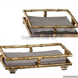 gold plated antique metal tray