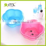 PP plastic baby hand wash basin/ hair foot washbasin lucky shape