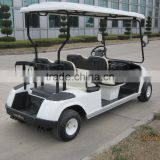 Hot sale 4 wheel 4 seat electric golf cart with CE, 4 Seater electric aluminum golf cart