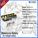 12V 6.5Ah Motorcycle/Electric Scooter Battery
