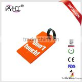 Customized silicone rubber luggage bag label tag , Soft PVC Silicone Luggage Tag
