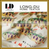 hot sale lovely fish pattern soft bath towels