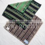 Yarn dyed jacquard facecloth 100% cotton face flannel
