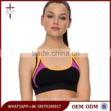 Stylish Color Contrast Active Crop Top Dry Fit Wholesale Sports Bra Custom