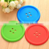 Slip resistant solid color button coasters pvc pot holder