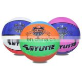 High Quality Rubber Colorful Rubber Basketball