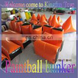 2013 Customized inflatable paintball bunkers for outdoor sport