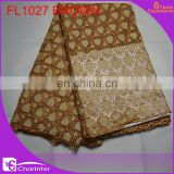 african lace fabric/charinter lace/women dress/fashion embroidery lace/cord lace/guipure lace FL1027 brown