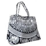Elephant white Mandala Hand bag mandala tote bag Mandala cotton tapestry hobo handbag/girls shopper bag Handle bag wholesale
