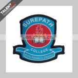 custom brand logo woven embroidered patch for clothing
