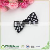 Small Mermaid Glitter dot printing bright black Hair Bow