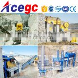 Rock stone gold mining crushing and processing plant,gold separating plant machine