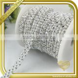 Clothing accessories pearl resin trim chain crystals rhinestone studded heat transfers FHRS-041