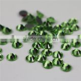 Top quality Wholesale light green flat back hotfix rhinestones for bags Saree Weddingdress