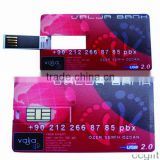 Factory provide business plastic credit memory card usb blank and full color USB card