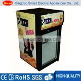 Glass door counter top fridge bottle cooler bar fridge