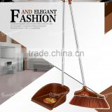 Dustpan with broom set soft brush doesn't cause any damage floor Popular bristle cutting to capture and hold fine dust and hair