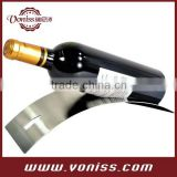 Fashion Design Stainless Steel simple strong Wine rack holder stand,Single Bottle Serving Display Wine Rack
