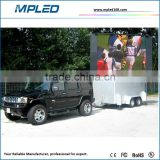Pop up easy installation vehicle-mounted led billboard high quality/high gray level/high refresh rate