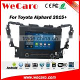Wecaro WC-TA1002 android 5.1.1 car multimedia dvd gps navigation for toyota alphard 2015 2016 car audio WIFI 3G Playstore