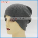 100% acrylic unrolled-up knitted men winter hat