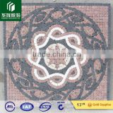 pink red marble mixed black blue mable water jet medallion                                                                         Quality Choice