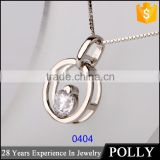 925 silver artificial diamond round ring pendant for women tamil om pendant