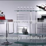 Modern elegance stainless steel furniture bar table and bar stool for sale